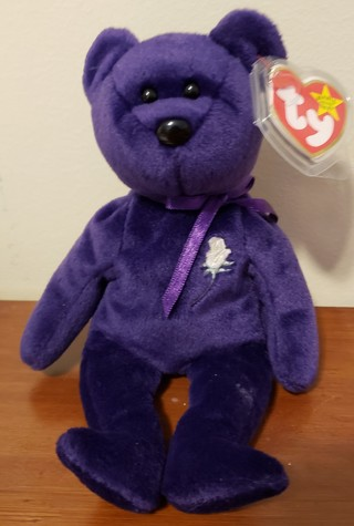 "NEW - TY Beanie Baby Bear - ""Princess"""