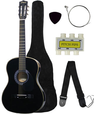 LAST ONE FREE!! Brand New!! Acoustic Guitar+GIGBAG+STRAP+TUNER+LESSON  low gin!