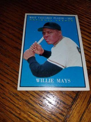 1961 Topps Baseball Willie Mays 1954 MVP #482 San Francisco Giants,MINT condition,Free ship!