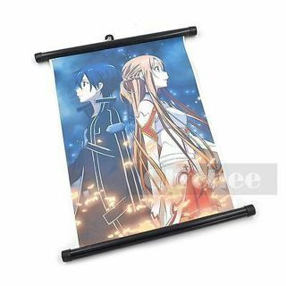 Hot Anime Sao Sword Art Online Jasna Tung Wall Poster Scroll Home Decor