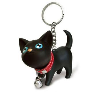 Meow doll keychain Cat Kitten Keyring Bell Toy couple Lover Key Chain Rings For Handbag cute