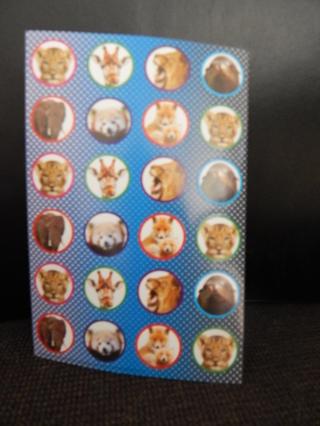 Fun sheet of Zoo Animal stickers