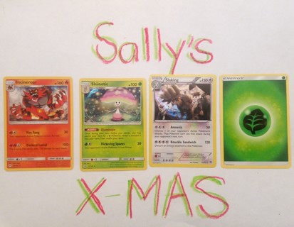 Four (4) Pokémon Trading Cards