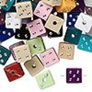 10 Random Pick 8x8mm Acrylic Dice Spacer Bead