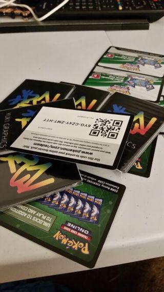 Pokemon tcg codes pack of (9) #5