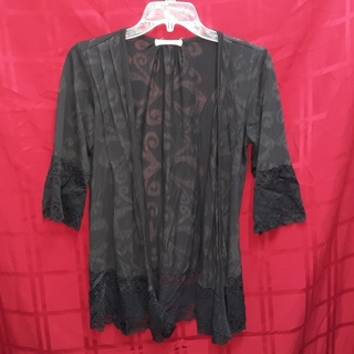 TESTAMENT Gothic Drape Overlay Top Cape Duster Size S