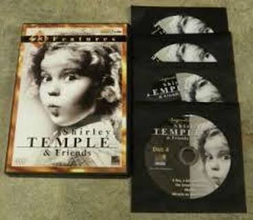 Dvd Shirley Temple And Friends 4 Disc Set