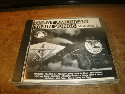 used cd-great american train songs-vol 2-johnny cash-jerry lee lewis&more!look!