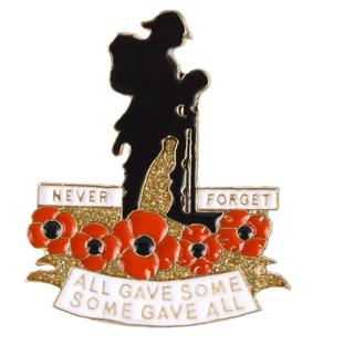 Poppy Enamel Pins for Veterans Memorial Day Military Patriotic Brooch Lapel pin