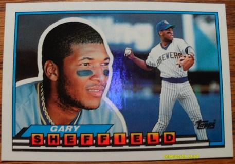 Free 1989 Topps Big Gary Sheffield Rc Rookie Card 55
