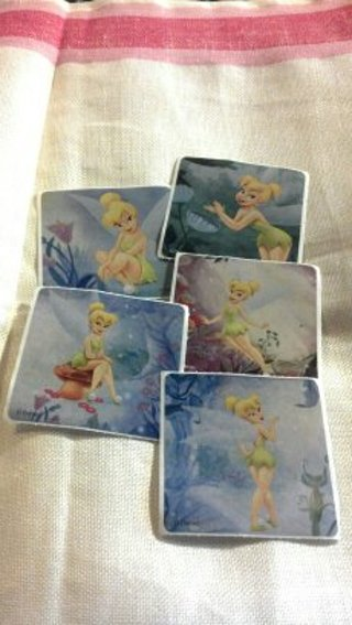 set of 5 Disney Tinkerbell stickers