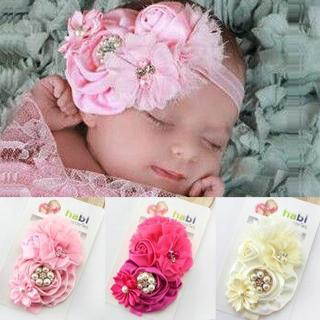 baby girl headband Infant hair accessories cloth band bows Headwear tiara headwrap Gift Toddlers c