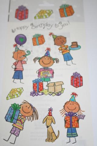 Free Me My Big Ideas Mambi Minis Scrapbook Stickers Birthday