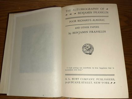 The autobiography of Benjamin Franklin Poor Richard's Almanac and other papers by Benjamin Franklin