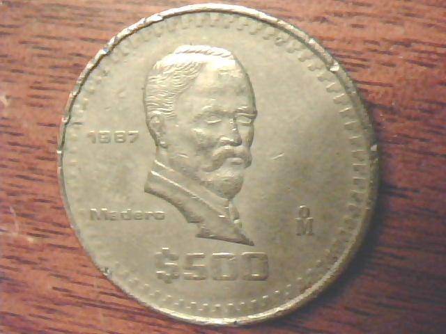 Free 1987 Estados Unidos Mexicanos 500 Coin Coins