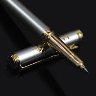 VITNAT Brand Luxury 0.5mm Gold Stainless Steel Metal Ballpoint Pen Office School Supplies Black In