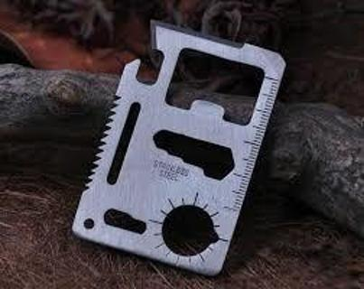(10) TEN X Multi Pocket Tools 11 in 1 Survival Credit Card Knife ***GREAT STOCKING STUFFERS***