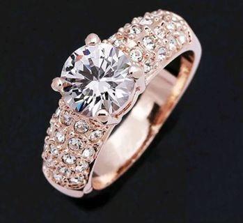 Women's crystal rhinestone finger rings wedding jewelry new stylish
