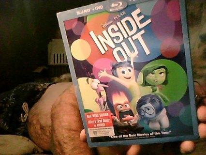 disney/pixar dvd/blu-ray 3 disc set of inside out