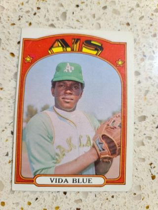 1972 Vida Blue Oakland Athletics vintage baseball card