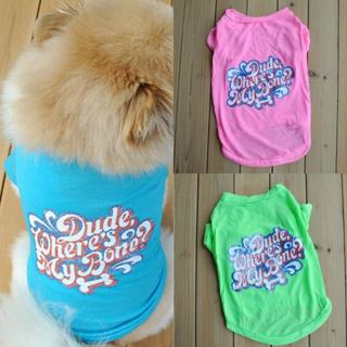Pet Vest Summer Puppy Small Dog Cat Clothes Dress Cotton T Shirt Apparel Clothes