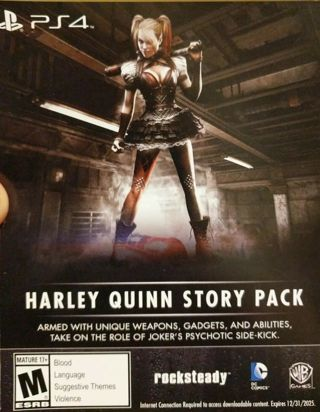 PS4 Batman Arkham Knight Harley Quinn Story Pack DLC