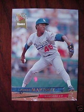 Free 1993 Fleer Ultra Rookie Card Pedro Martinez Dodgers