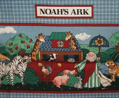 Noah's Ark Fabric Book Panel