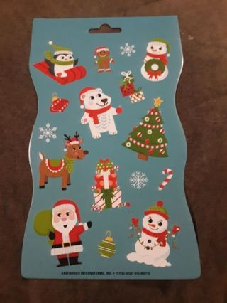 Teal christmaa Stickers