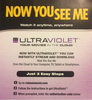 Now You See Me Digital Copy Code