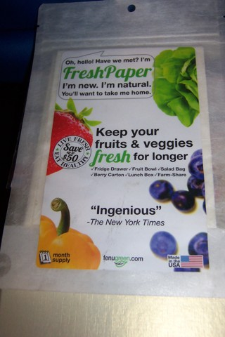 AS SEEN ON TV LIVE FRESH PAPER FOR FRUITS & VEGGIES SEALED FRESH NEW