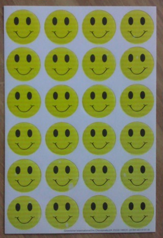 Yellow Smiley Stickers - New : )