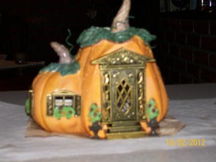 free partylite halloween pumpkin house tealight burner