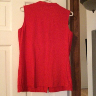 Red lace, sleeveless top, Size S