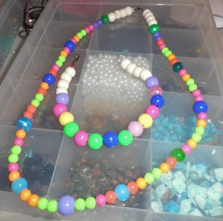 Little Girl's Necklace and Bracelet - New