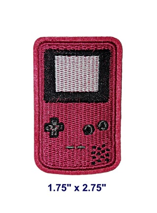 NEW Nintendo Gameboy - Red Embroidered Iron-On Patch
