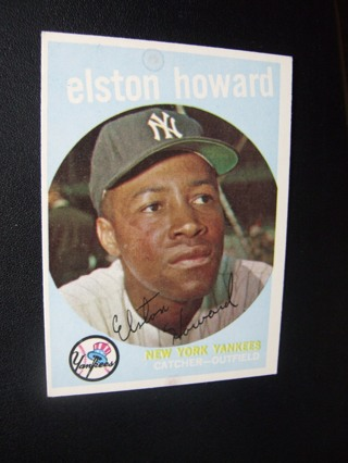 1959 - TOPPS EXMT - NRMT BASEBALL CARD NO. 395 - ELSTON HOWARD - YANKEES