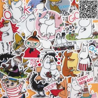 38 Pcs Mooin and animals Sticker For Luggage Skateboard Phone Laptop Moto Bicycle Wall Guitar/Easo