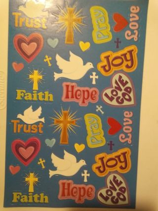 Another Large Sheet of Christian Stickers