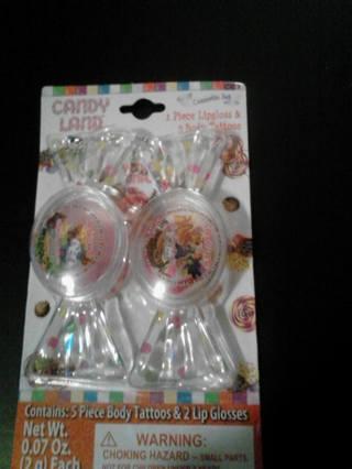 ☆☆BRAND NEW!!! Candy Land 2pc Lipgloss & Body Tattoos Set☆☆