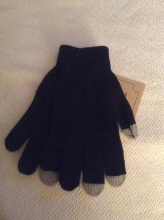 Plain Black Capacitive Gloves