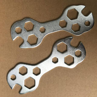 [GIN FOR FREE SHIPPING] Hexagonal Multi Function Steel Wrench 15 In 1 Bicycle Repair MTB Tool