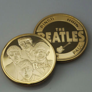 [GIN FOR FREE SHIPPING] The Beatles Gold Commemorative Coin