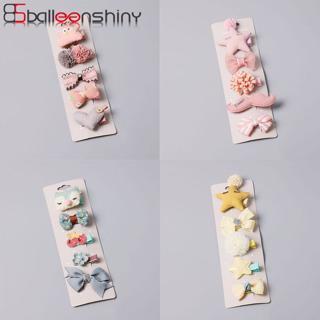 BalleenShiny 5 Pcs Flower Hairpins Bobby Pin Princess Headwear Baby Girls Fashion Crown Cartoon Ha
