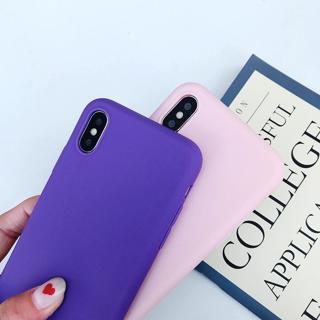 Matte Phone Case For iPhone 6 7 8 Plus 6s 7Plus 8Plus X S 5 5s SE XR XS MAX Solid Color Soft TPU C