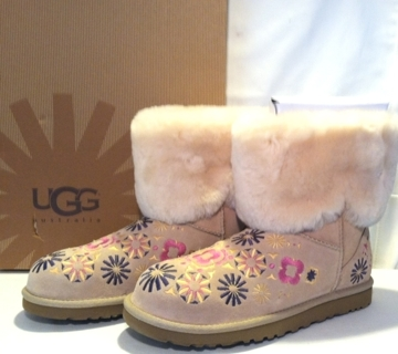 Authentic NEW Adorable UGG FLORAL Embroidered BOOTS wCUFF 1002164 -Happy EASTER! *GIN for
