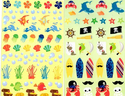 Shark Adventure Sticker sheets