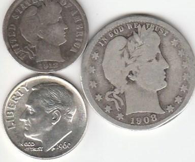 90% Silver Dimes Quarter