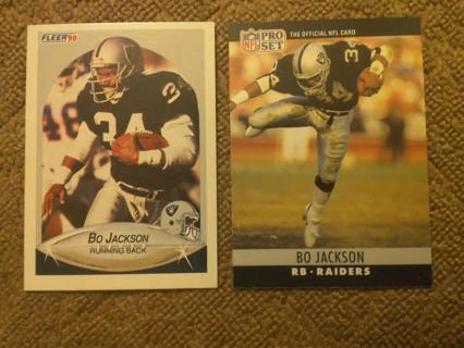 Bo Jackson 1990 cards... winner gets both!