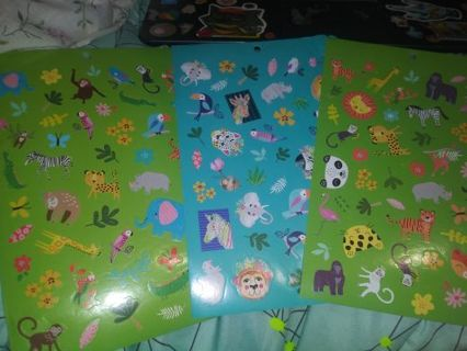 Animal 3 full sticker sheets really cute lowest gins around stop by and see! Selling out deals!